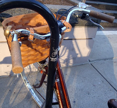 vintage basket on a 3 speed