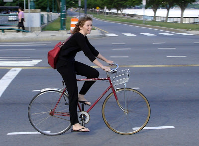 elegant city cyclist