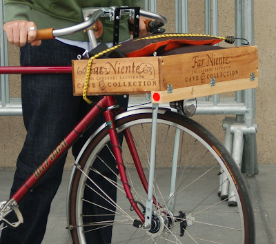 wine box bike basket custom DIY modification