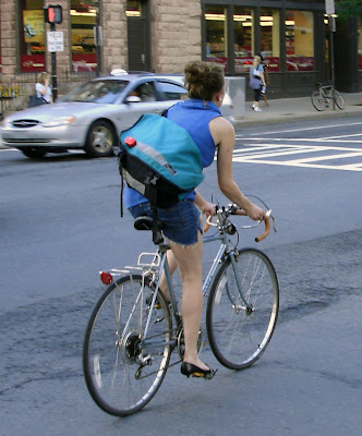 Boston girl cyclist