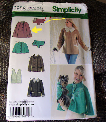 cycling cape pattern Simplicity