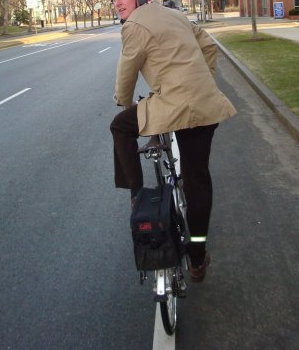 DIY cycling jacket in action