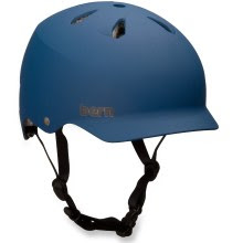 blue Bern bike helmet