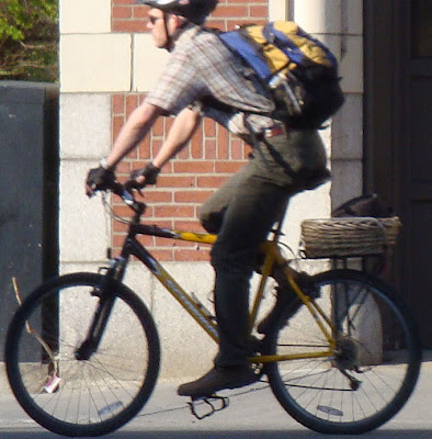 rack basket on a bike