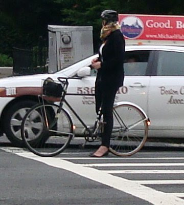 classic look lady cyclist