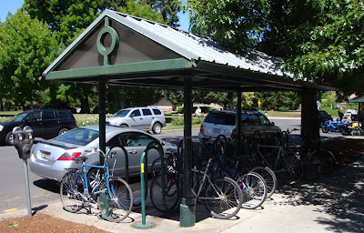 bike shelter in Oregon, bike parking