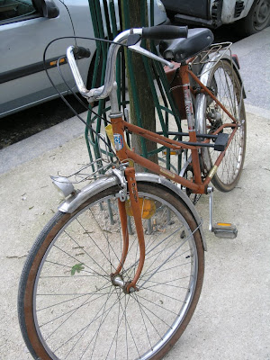 lugged French mixte antique bike bicycle