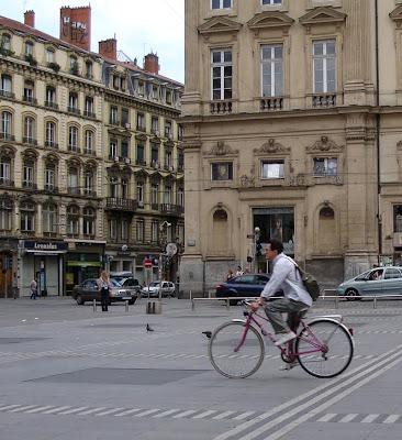 Man's pink mixte Lyon