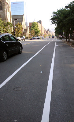 Columbus Avenue bike lane in Boston