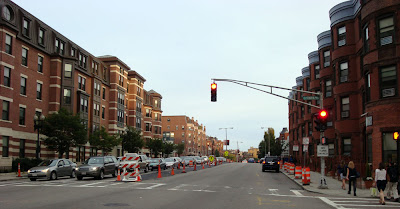 Mass Ave under construction