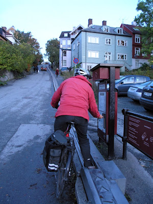 paying for the bicycle lift
