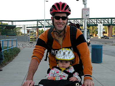 father daughter cycling