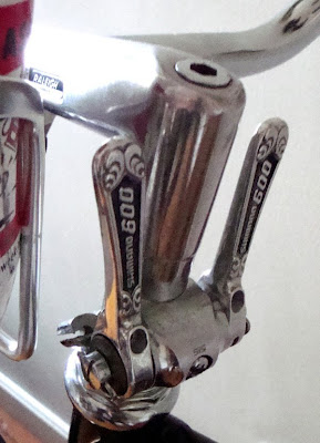 retrofitted stem shifters Shimano 600 arabesque