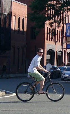 gentleman cyclist summertime