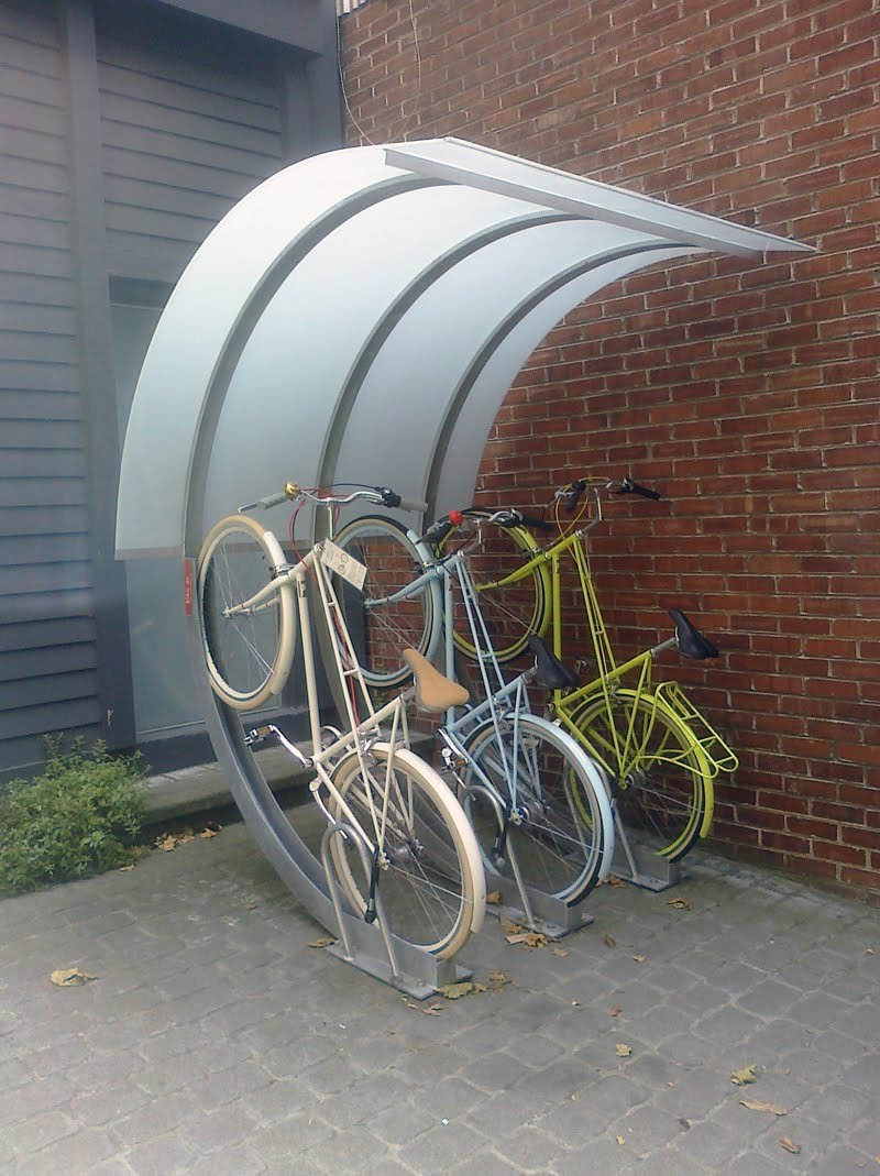 Chic cyclists san francisco bicycle parking Outdoor bicycle