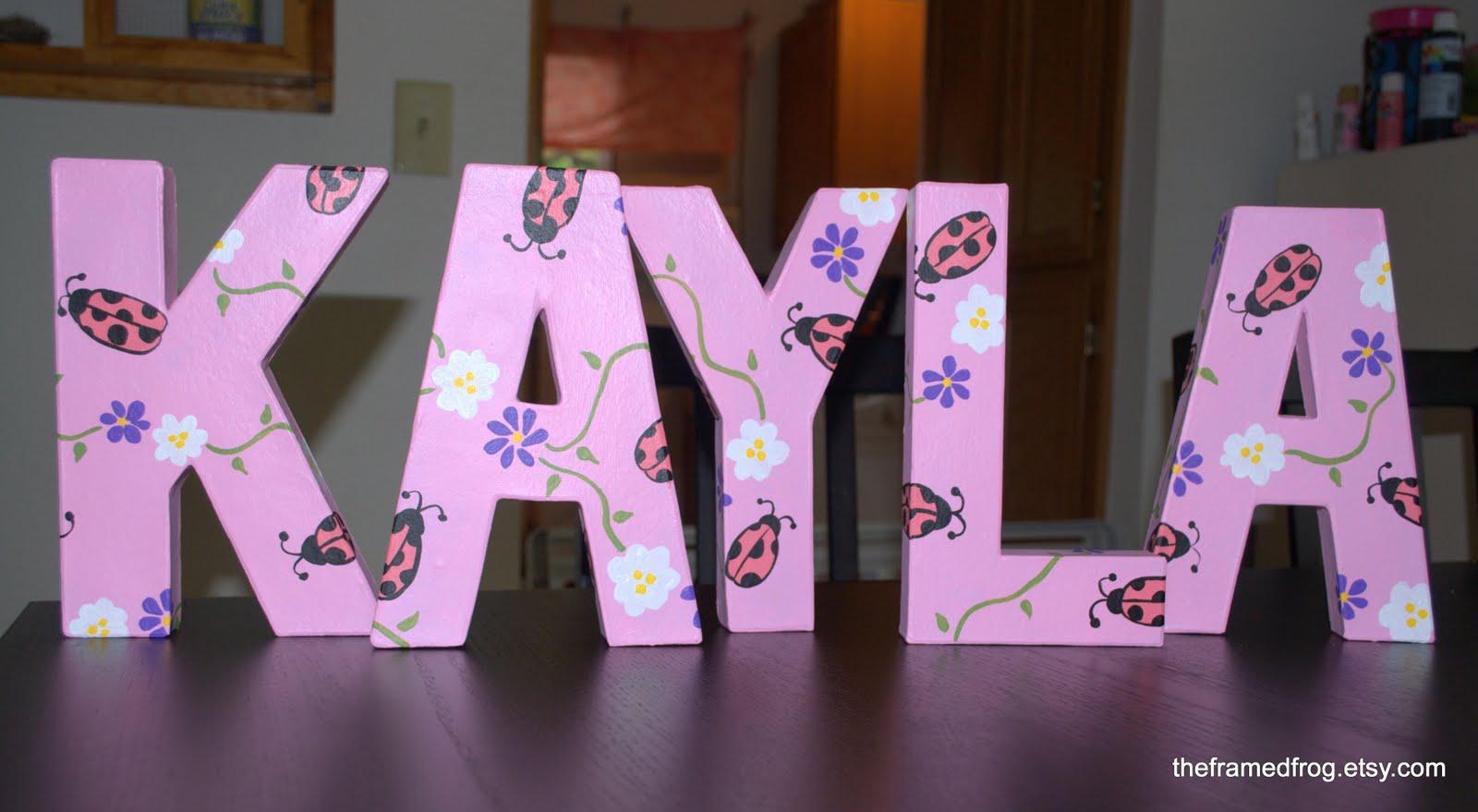 Kayla Written in Bubble Letters Bubble Letter Name Kayla
