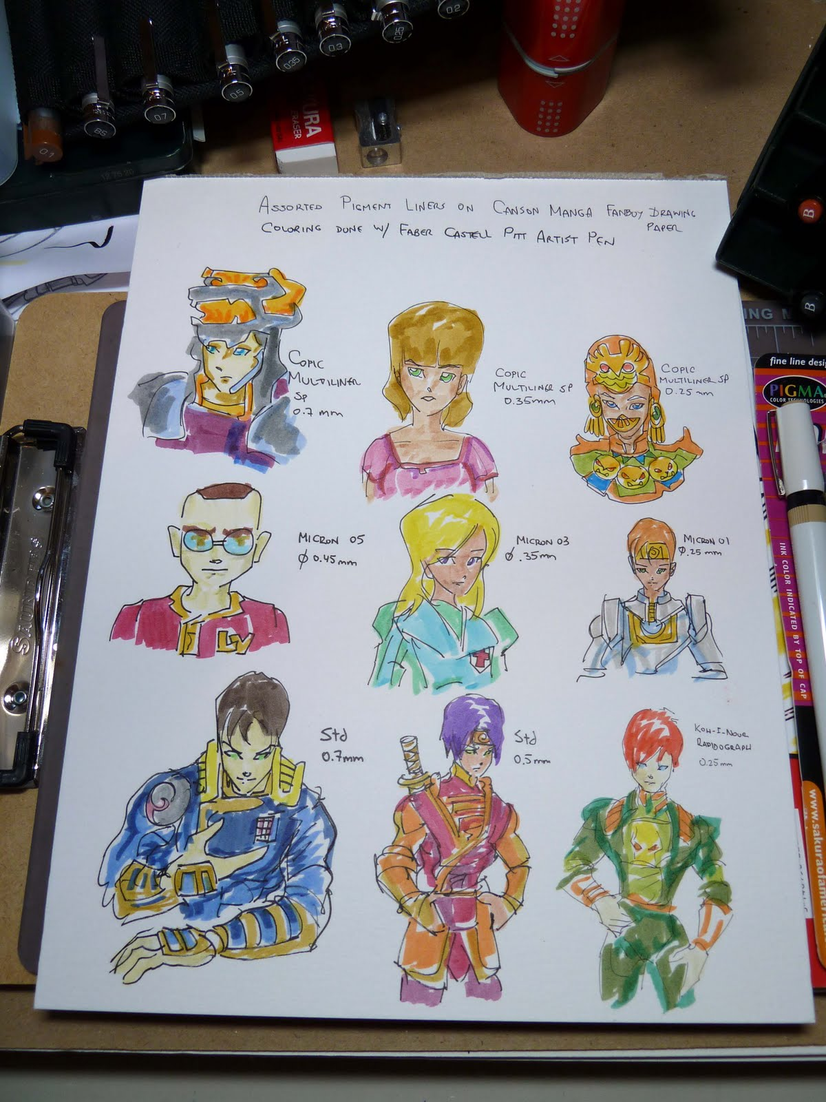 faber castell pitt artist pens compatibility and coloring tests on