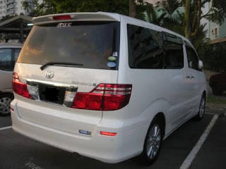 Toyota Alphard Rear View