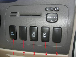 Toyota Alphard Button on Right of Dashboard