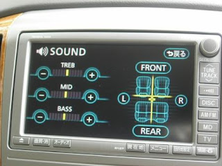 Toyota Alphard HU Sound Configuration