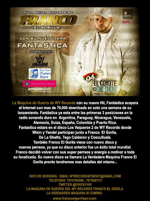 Franco El Gorila Rompe Record De Descargas En Tan Solo Una Semana