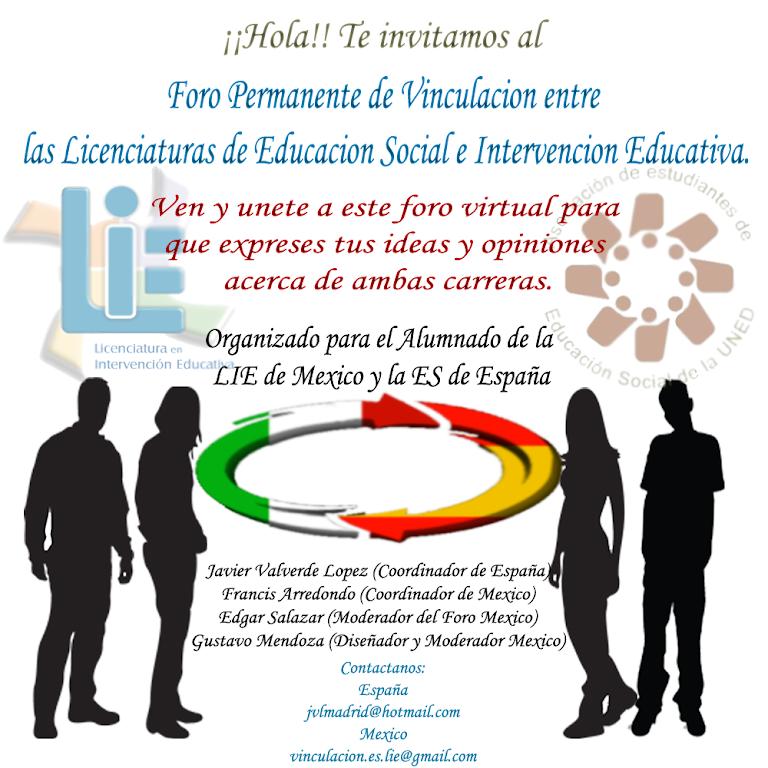 Invitacion al Foro Virtual México - Espana