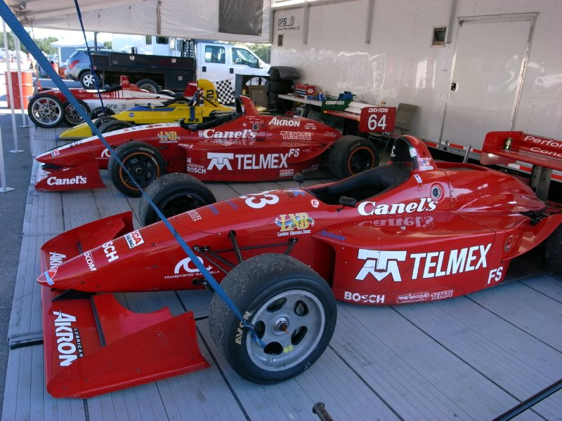 Formula cars at rest...