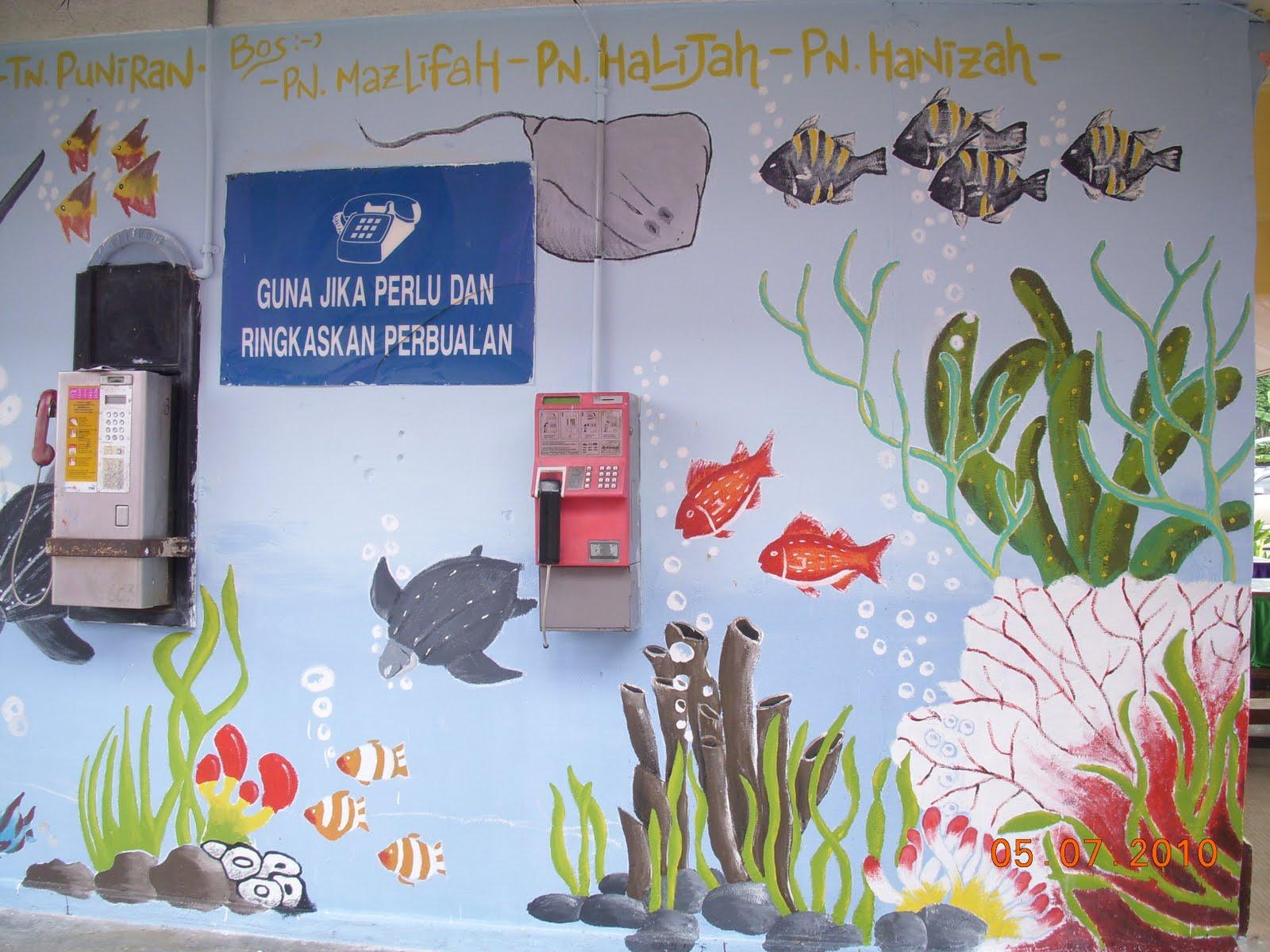 Smk bandar maharani muar guru bimbing murid kreatif for Mural yang cantik