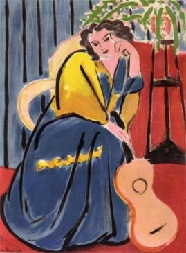 Matisse, Henri (1869-1954) - Femme a la guitare, 1945