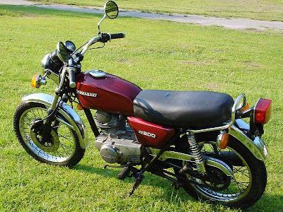 Kawasaki+KZ200+A1+3 Kawasaki KZ200 A1 1977 1978