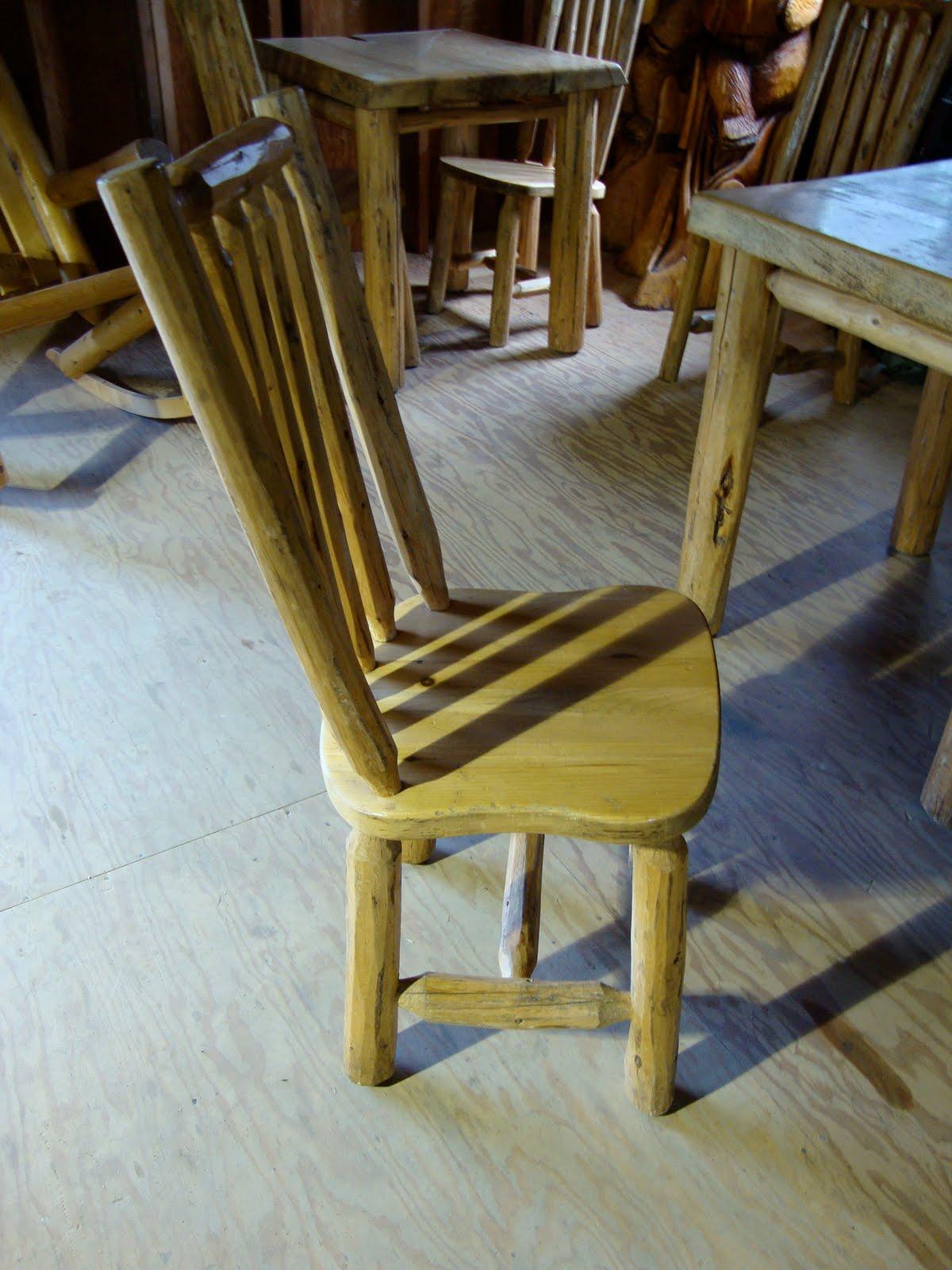 Log Furniture For Sale Log Pole Chair 175