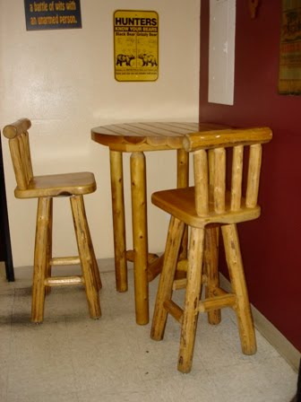 gallery of log pub tables for sale