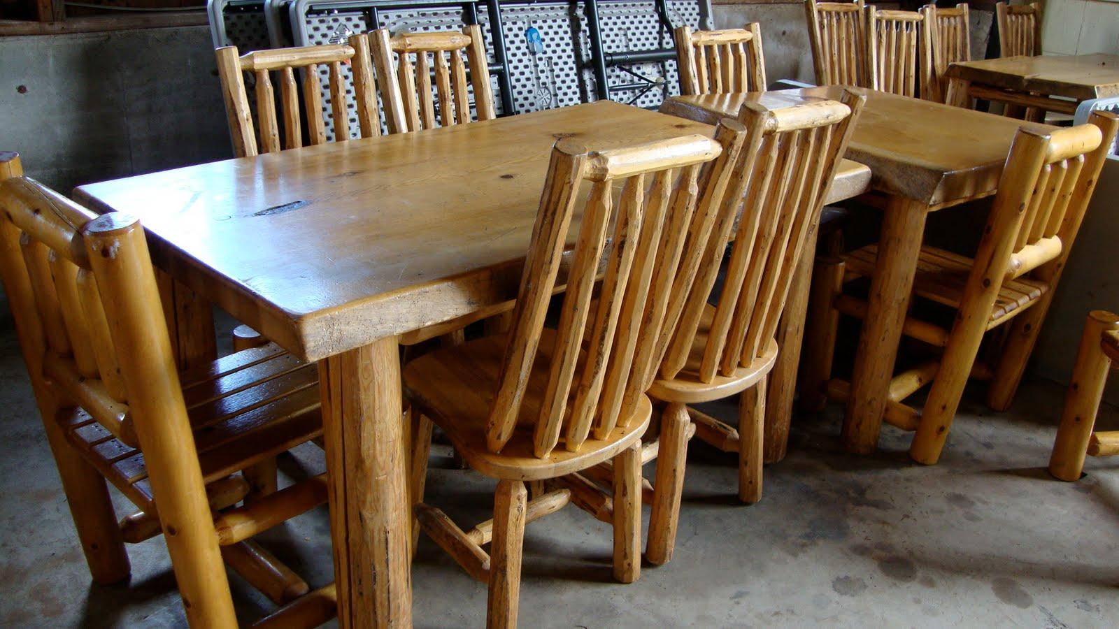 Log Furniture For Sale Big Log Table 400