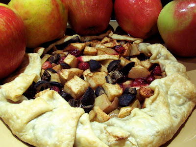 ... on the Green: Rustic Cranberry Apple Galette with Preserved Walnuts