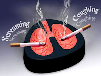 cendrier poumons qui crient