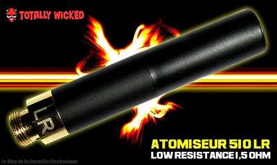 atomiseur 510 LR (low resistance) 1,5 ohm de chez Totally-Wicked