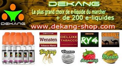 Dekang : Eliquide pour cigarette electronique