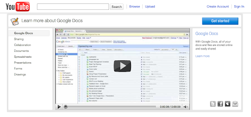 Google Docs on YouTube