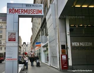 Ingresso del Römermuseum, il museo romano di Vienna