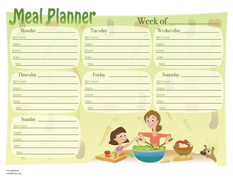 Homemaker39;s Handbook 3: Meal Planning amp; Shopping List {Downloads