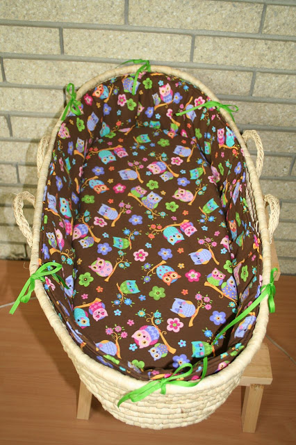 Sew Can Do Moses Basket Redo Bedding Tutorial