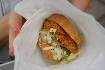 The famous fried chicken sandwich!