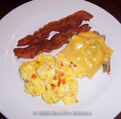 Breakfast for dinner from Mrs. W at Mrs; W's Kitchen blog
