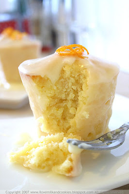 Little yoghurt orange blossom cakes from Jen at Milk and Cookies blog