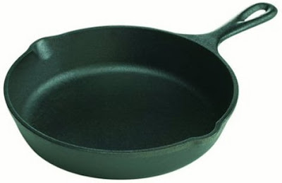 Photo of a cast iron frying pan, courtesy of Amazon.com
