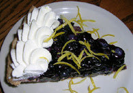 Blueberry pie from Solstice Cafe, photo courtesy of Sustainable Table
