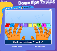 Dance mat typing level 1 stage 1 full screen share the knownledge