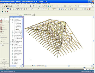 Gable Roof in Revit http://whosafraidofthebigbadbim.blogspot.com/2008/09/tools4revit-roof-truss-generator.html