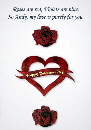 Valentines Day Card 3. HTML Code For Graphic