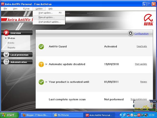 Update Avira-Antivirus in Off-Line